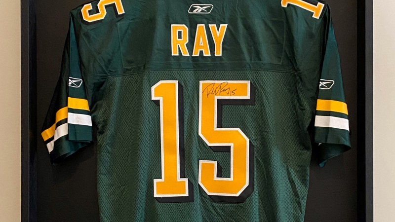 Ryan King's signed Ricky Ray jersey