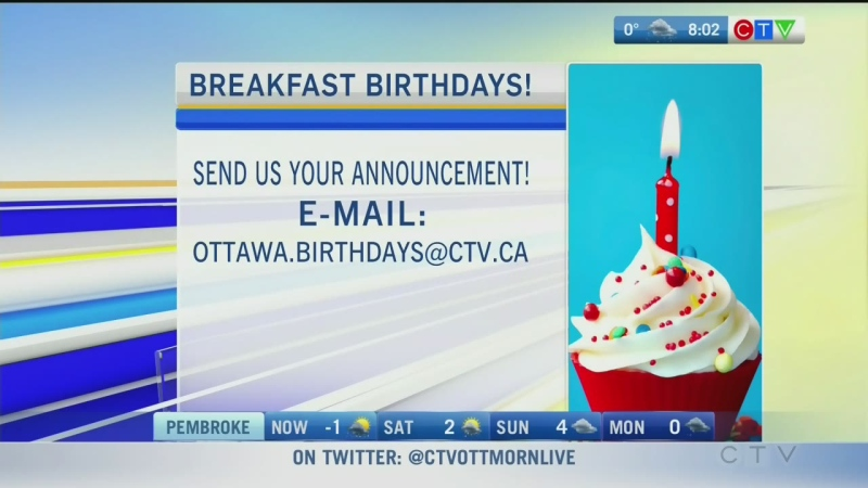 CTV Morning Live Birthdays Nov 28