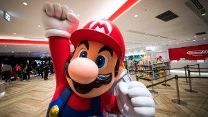 The first 'Super Mario' theme park will open in the Japanese city of Osaka in February 2021. (AFP)