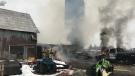 Ottawa firefighters battle a blaze at a farm on Diamondview Road in Carp. Nov. 30, 2020. (Photo courtesy of Ottawa Fire Services)