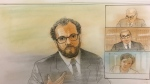 Dr. Alexander Westphal (left) is seen testifying at the virtual Toronto van attack trial on Nov. 30, 2020. (John Mantha)