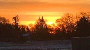 Sunrise at Gilbert Pains. Photo by Bonnie Coukell.