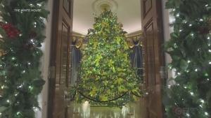 Melania Trump unveils WH holiday decorations