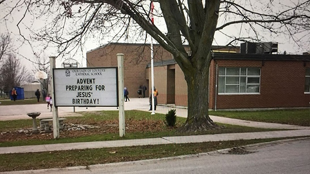 Our Lady of Lourdes Catholic School in Elmvale, Ont. (CTV Barrie)
