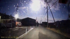 Fireball dazzles in the sky over Japan