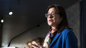 Toronto's medical officer of health Dr. Eileen de Villa speaks to the media at city hall in Toronto, on Wednesday, April 24, 2019. THE CANADIAN PRESS/Christopher Katsarov