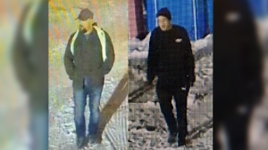 Police say these two men were involved in an armed robbery in Grande Cache. (Source: RCMP)
