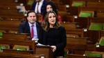 Minister of Finance Chrystia Freeland delivers the 2020 fiscal update in the House of Commons on Parliament Hill in Ottawa on Monday, Nov. 30, 2020. THE CANADIAN PRESS/Sean Kilpatrick