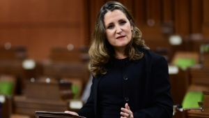 Watch: Freeland delivers fall fiscal update