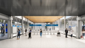 The interior of Arbutus Station is shown in an artist rendering from the Broadway Subway Project Corporation.
