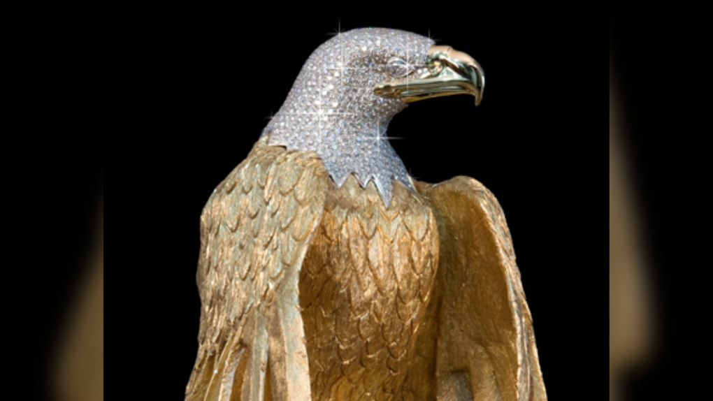 Golden eagle statue