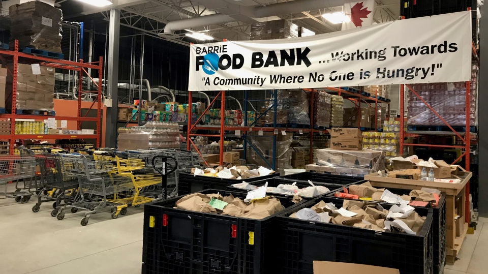 Barrie Food Bank in Barrie, Ont. (Lexy Benedict/CTV News)