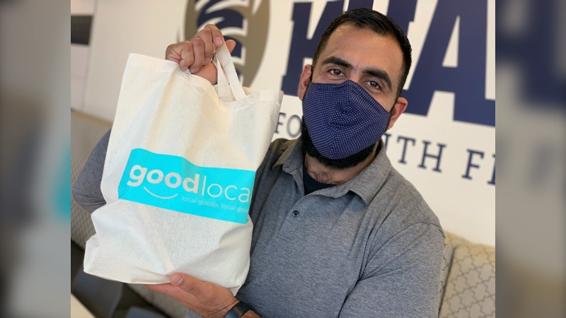 Ibrahim Obby Khan, the co-founder of Good Local, says business has been busy since the site launched three weeks ago, which is designed to help local businesses. (Jamie Dowsett/CTV News)