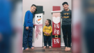 santa, snowman crafts