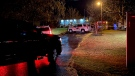 There is a heavy police presence on Six Nations after a man suffered a gunshot wound (Terry Kelly / CTV News Kitchener)