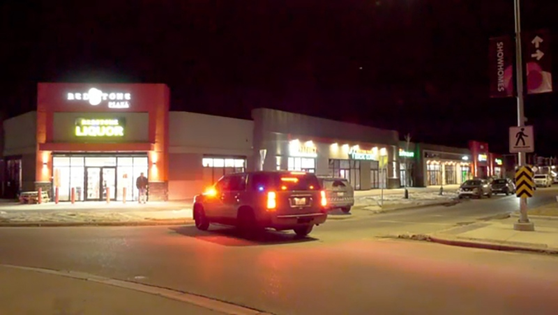 Two suspects are alleged to have stolen money and drugs from a northeast Calgary pharmacy early Monday evening