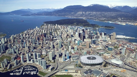 An artist rendering of a new retractable roof for BC Place was confirmed for a fixed contract worth $458 million was announced on Friday, Oct. 23, 2009 (PavCo)