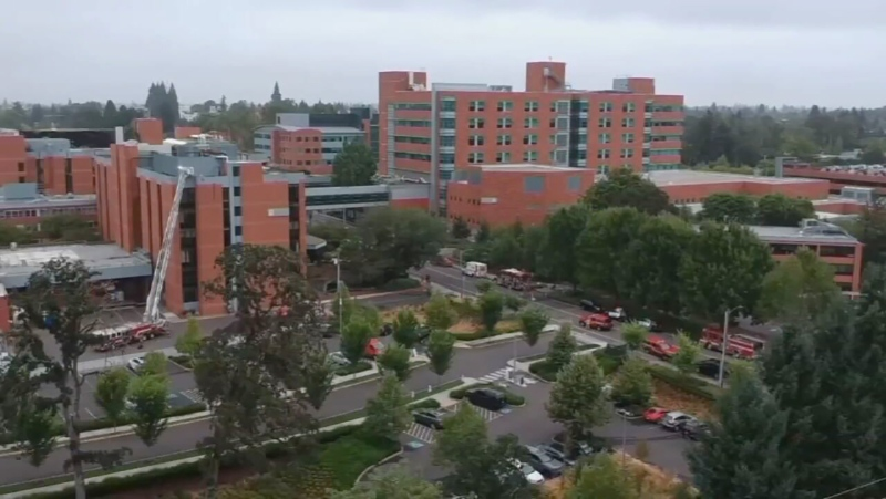 An oncology nurse at Oregon's Salem Health was suspended Saturday after she posted a TikTok video in which she bragged about flouting her state's pandemic restrictions, the hospital told CNN. (KPTV via CNN)