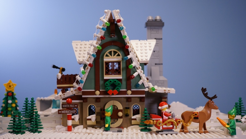 A screen shot from Tyler Walsh's latest stop-motion Lego video: Santa Claus will still be delivering presents in time for Christmas despite the pandemic. (Source: Tyler Walsh)