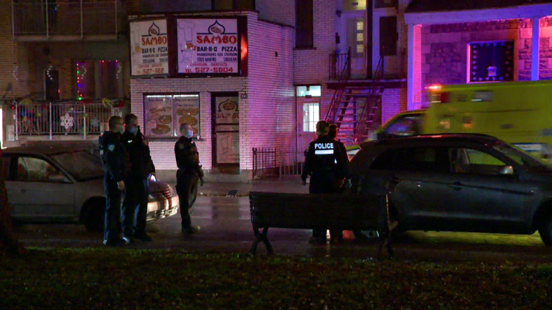 A 61-year-old man was taken to hospital early Tuesday morning to be treated for upper body stab wounds / Cosmo Santamaria, CTV News Montreal