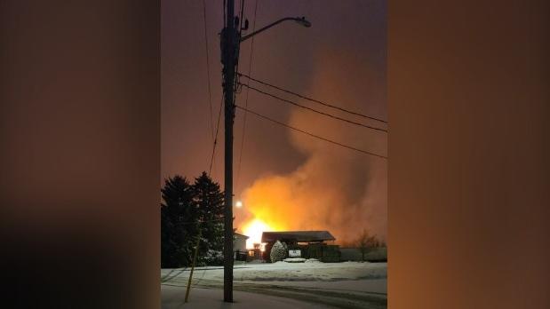 Three Bridges Road barn fire