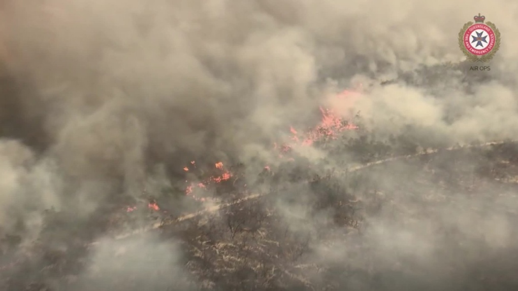 Bushfire on Australia's Fraser Island