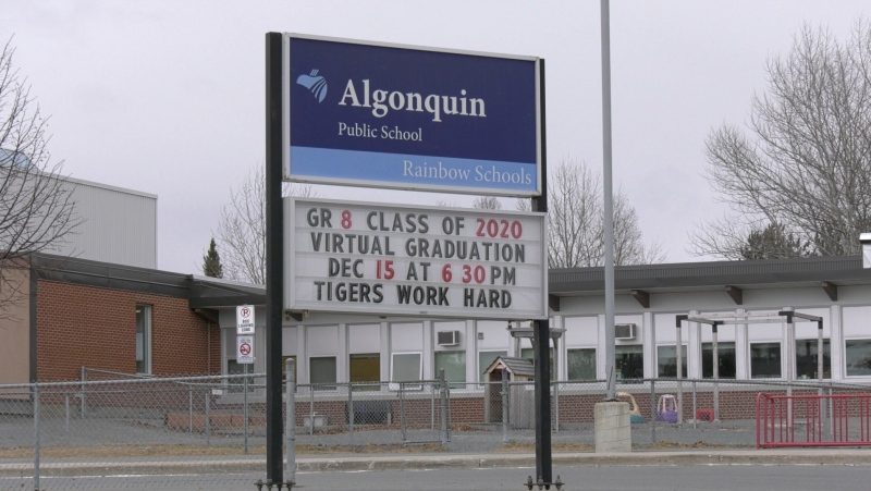 Algonquin Road Public School in Sudbury. Dec. 1/20 (Jaime McKee/CTV Northern Ontario)