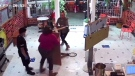 Grandma defends family against angry customer