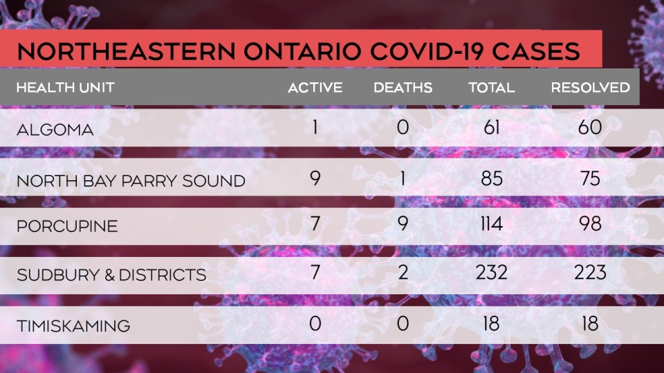 Breakdown of the status of COVID-19 cases in the n