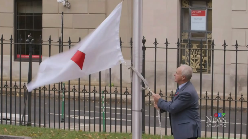 N.S. raises a red ribbon flag for World AIDS Day