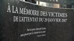 Memorial to Quebec mosque shooting victims