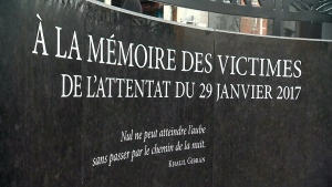 Memorial to Quebec mosque shooting victims