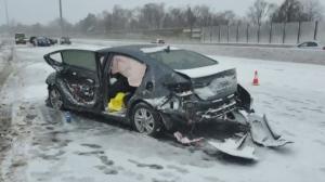 Multi-vehicle highway crash leaves woman dead