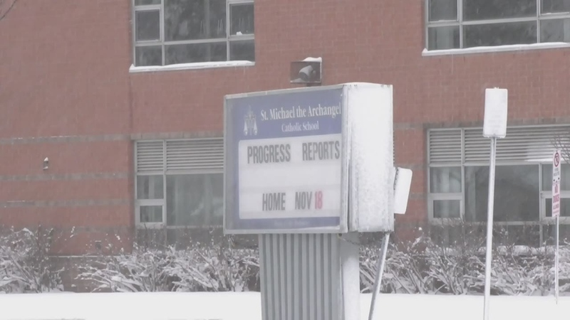 St. Michael the Archangel Catholic Elementary School in Barrie, Ont. (Steve Mansbridge/CTV News)