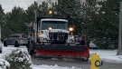 Snow plows hit the streets of Windsor, Ont on Tuesday, Dec. 1, 2020. (Rich Garton/CTV Windsor)