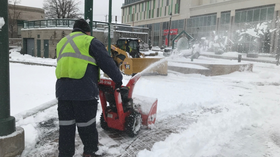The City of Barrie was left digging out during a multi-day snow storm. Tues., Dec. 1, 2020. (Rob Cooper/CTV News)