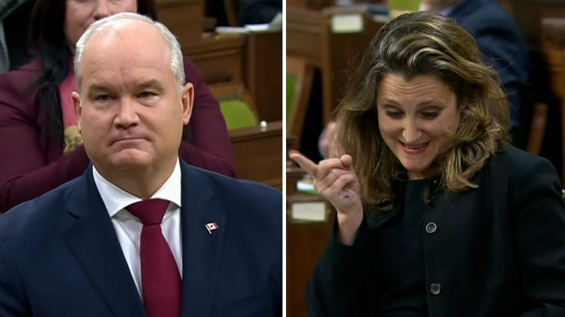 Freeland calls out O'Toole's 'bad habit'