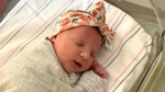 Molly Everette Gibson, seen adorably sleeping, has set what's thought to be a record. The embryo from which she was born was frozen for 27 years. (Courtesy Tina Gibson/The National Embryo Donation Center/CNN)
