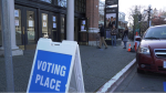 The advance polling station at the Crystal Gardens in downtown Victoria is shown: Dec. 1, 2020 (CTV News)
