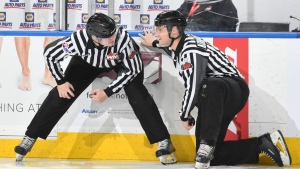 Linesman Deion Foster is one of three local officials who are on the World Juniors' all-Canadian referee lineup. (Courtesy: WHL)