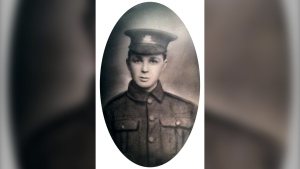 Pte. John Lambert of St. John's, a 17-year-old member of The Newfoundland Regiment, is shown in this handout image provided by Government of Canada National Defence. THE CANADIAN PRESS/HO-Government of Canada National Defence