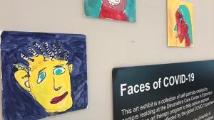 Seniors' self-portraits at Southgate Mall. Tuesday Dec. 01, 2020 (CTV News Edmonton)