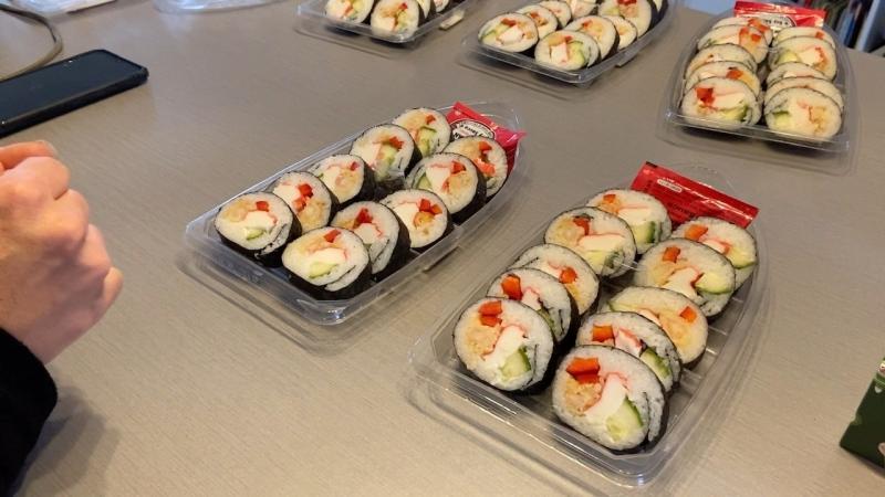 Fresh sushi prepared by Dacre, Ont.'s Tomoko Hamilton. (Dylan Dyson / CTV News Ottawa)