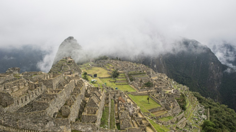 View of the archaeological site of Machu Picchu in Peru on Nov. 2, 2020, amid the coronavirus pandemic. (AFP)