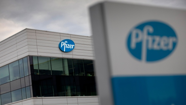 In this Nov. 9, 2020, file photo, a general view of Pfizer Manufacturing Belgium in Puurs, Belgium. (AP Photo/Virginia Mayo, File)
