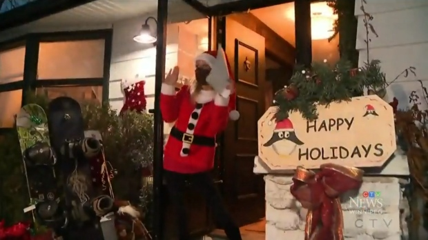 Jaime Webster, a 41-year-old mother of two from Winnipeg, has cancer that has spread to her brain. She fulfilled one of her final wishes by delivering holiday hampers to families in need. (Source: Touria Izri/ CTV News Winnipeg)