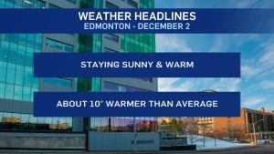 Dec. 2 weather headlines