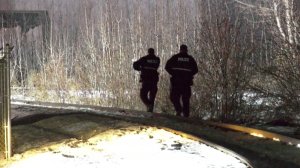 A body was found after a small fire in a wooded area near 163 Street and 114 Avenue on Dec. 1, 2020.