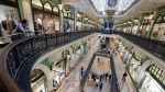 In this Sept. 2, 2020, file photo, a shopping center is sparsely attended in Sydney. (AP Photo/Rick Rycroft, File)