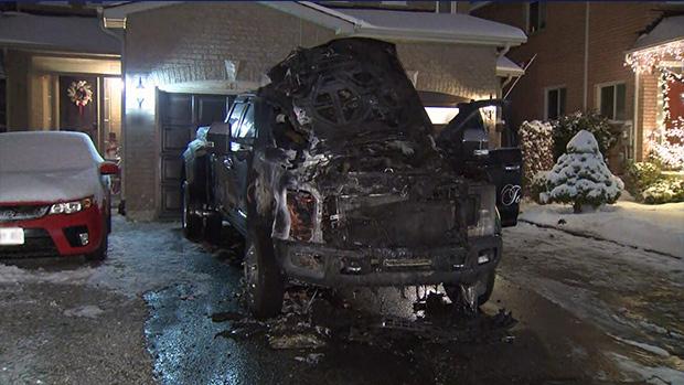 Truck fire Newmarket